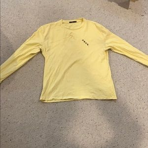 "Obey Pale Yellow Long Sleeve Top ""Rose"""